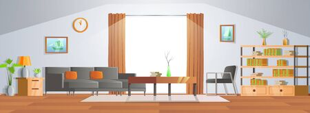 room decoration of living room with gradient design,vector illustration