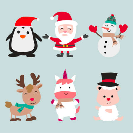 Collection of Christmas decoration element,vector illustration
