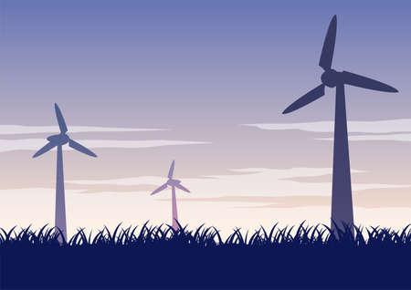 silhouette design of windmills,vector illustration 向量圖像