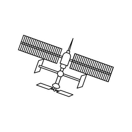 Cartoon version design of sattelite,vector illustration 矢量图像