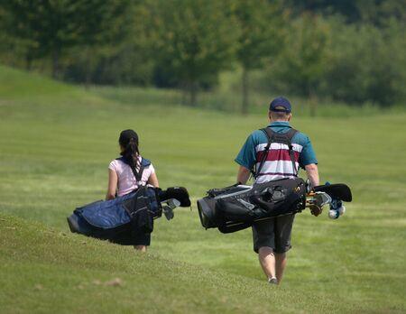 Golfing couple photo