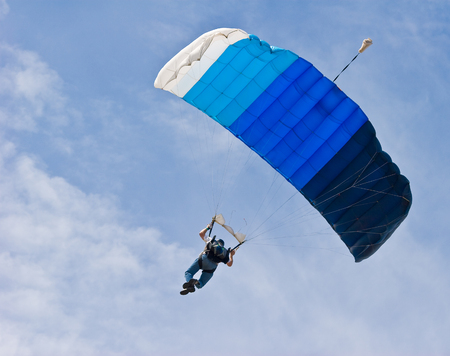solo sky diver floating on the wind