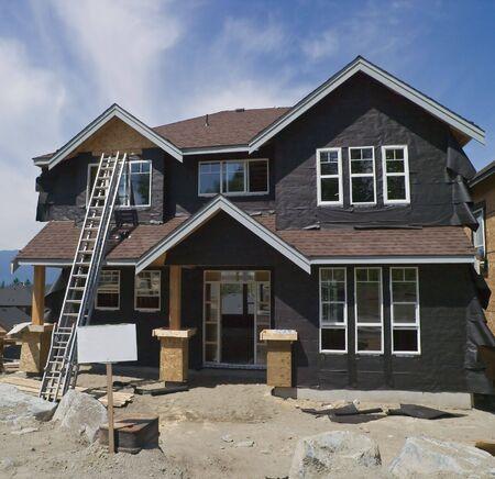 建設中の新しい家 写真素材
