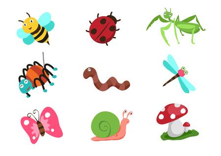 insectos vectores de dibujos animados la vida