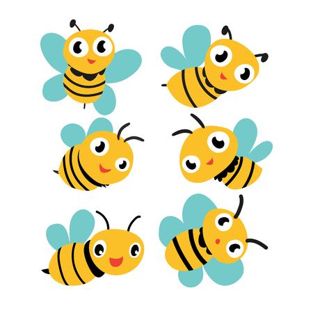 bee vector collection design, bee character vector design