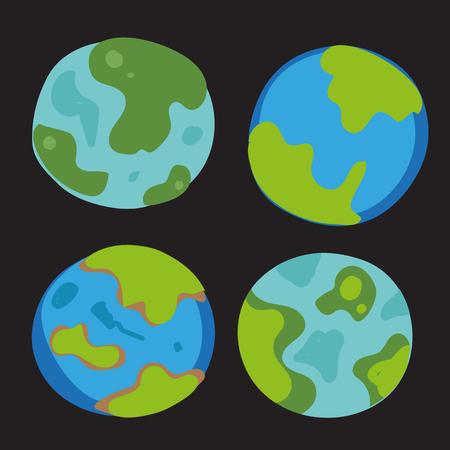 earth vector collection design, global vector collection design