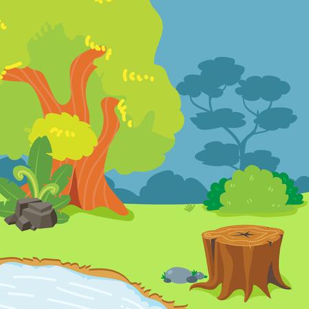 garden vector collection design, landscape vector design, tree vector design