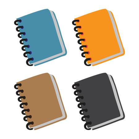 notebook vector collection design, book vector collection design 向量圖像