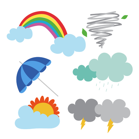 weather vector collection design, cloud vector collection design