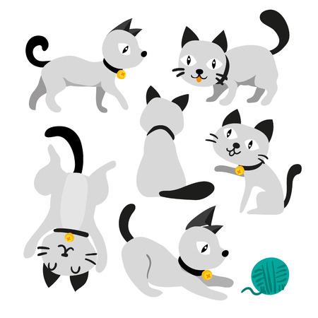cat character vector design, animals character vector design