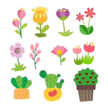flower vector collection design, floral vector collection design