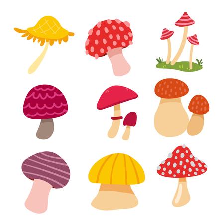 mushroom vector collection design, plants vector collection design 向量圖像