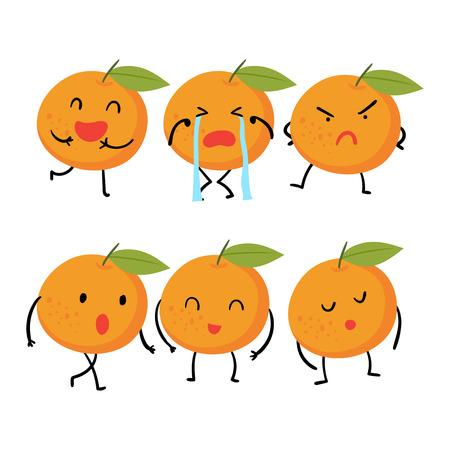 orange character vector design, orange vector collection design