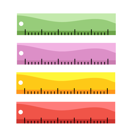 ruler vector collection design, stationary vector collection design