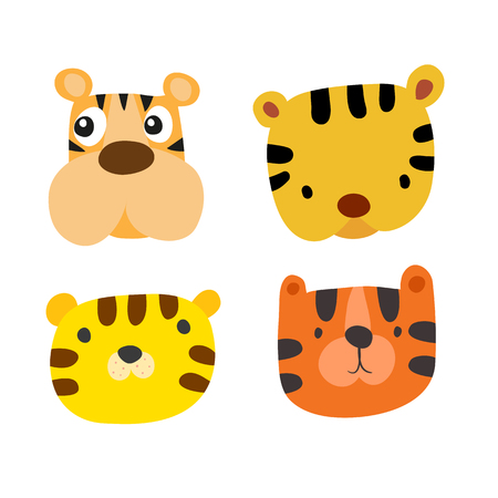 animals head character vector design, animals character vector design
