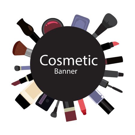 Cosmetics elements collection, fashion set, Make up collection