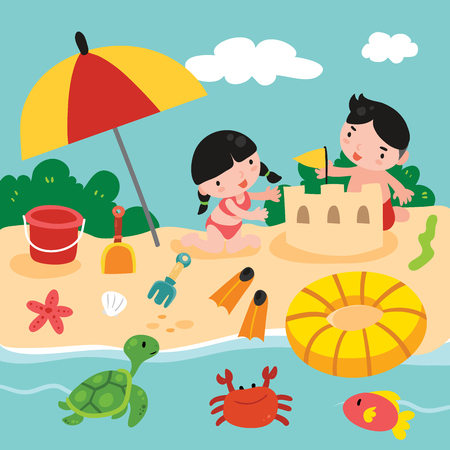 beach toys vector design, sea vector design, sea design