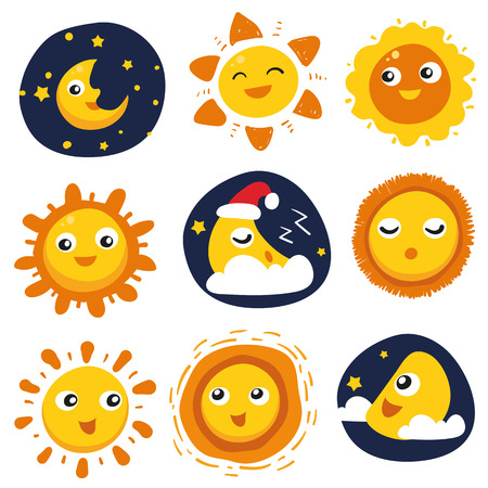 cloud vector collection design, weather vector collection design 矢量图像