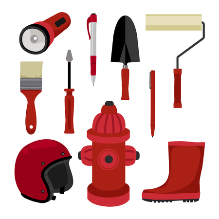 Security Equipment vector design, safety equipment design