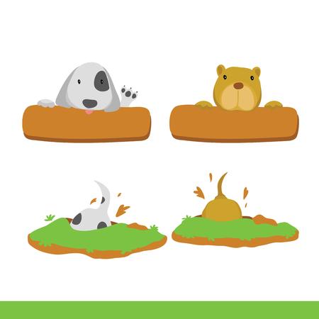 dog character vector design, animals vector collection design Ilustração