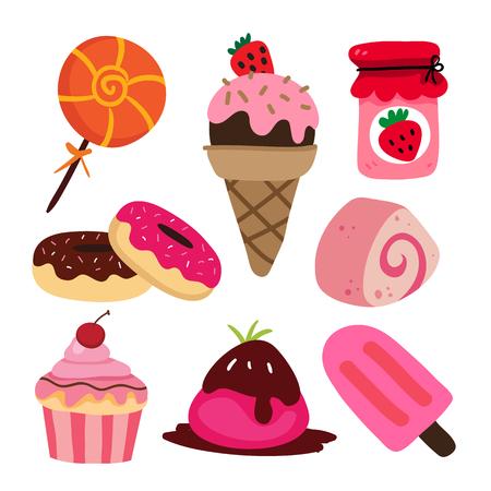 dessert vector collection design, bakery vector collection design