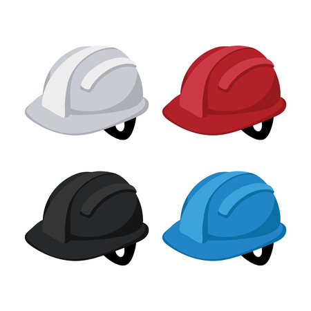 helmet vector collection design, hardhat vector collection design  イラスト・ベクター素材