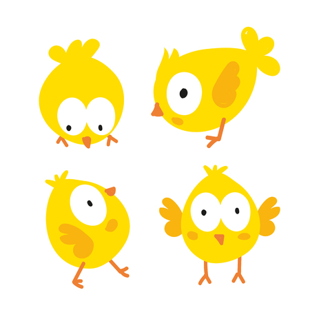 chick character vector design, animals vector design, wildlife collection  イラスト・ベクター素材