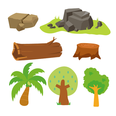 tree vector collection design, nature vector collection design