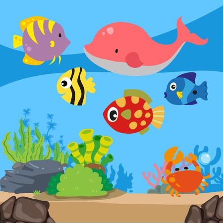 ocean background vector design, sea background vector design Stock Illustratie