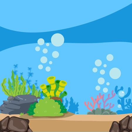 ocean background vector design, sea background vector design Ilustração