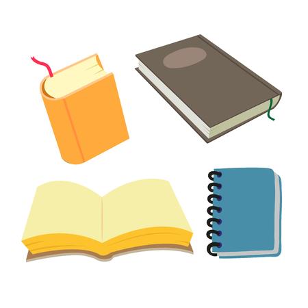 book vector collection design, notebook vector collection design Vektorové ilustrace