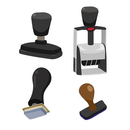 stamper vector collection design, stamp vector collection design