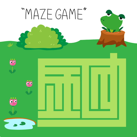 maze game vector design, maze game for kid vector design