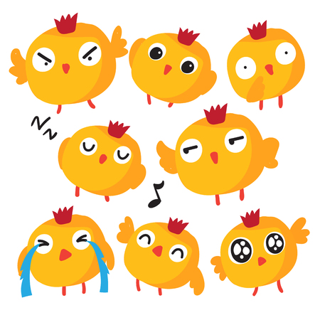 chick vector collection design, animals vector collection design