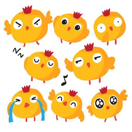 diseño de colección de vectores de pollito, diseño de colección de vectores de animales