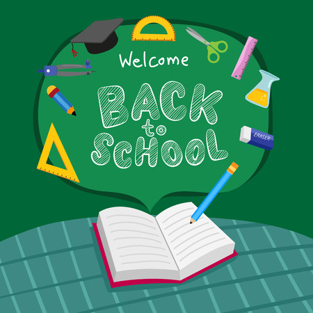 back to school vector design, back to school vector collection design Stock Illustratie