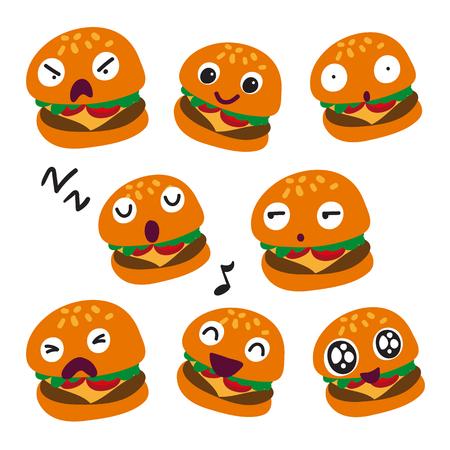 hamburger vector collection design, burger vector collection design