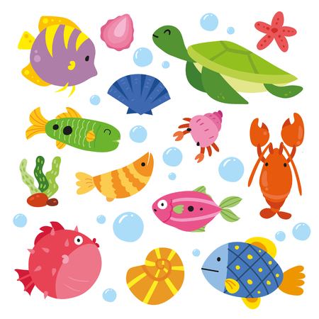animals character design, ocean collection
