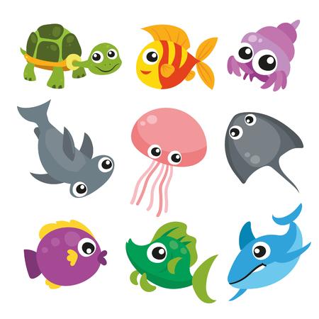 conception de collection d'animaux de l'océan Vecteurs