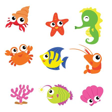 ocean vector collection design Stock Illustratie