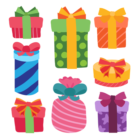 gift vector collection design, gift and party vector collection design