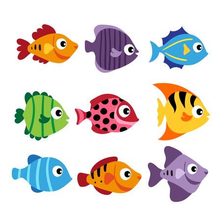 fish vector collection design, ocean animals collection design