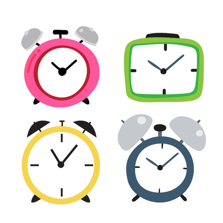 clock vector collection design, alarm clock vector collection design