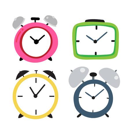 clock vector collection design, alarm clock vector collection design