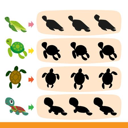 diseño de vector de juego de tortuga, diseño de colección de juego de tortuga