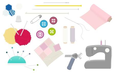 Stitching equipment vector illustration