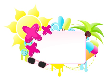 Cool summer label vector illustration Vector