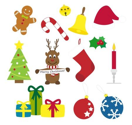 Christmas things vector illustration set Illustration