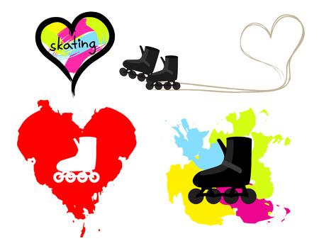 Love skating vector illustration