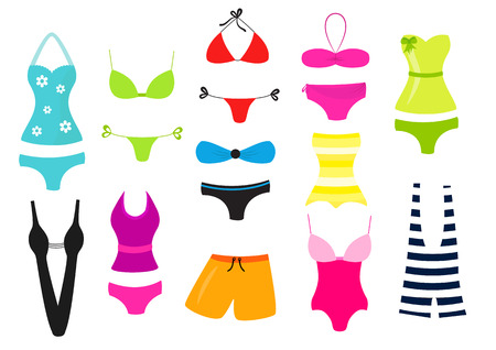 Swimsuit vector collection Illustration